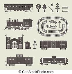 vettore, insieme treno