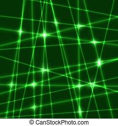 vettore, laser, raggi