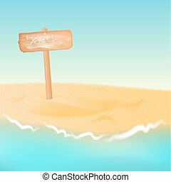 Rilassare Segno Sabbia Legno Asse Mare Sedia Spiaggia