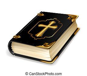 vettore, libro, santo