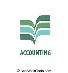 vettore, logotipo, contabilità