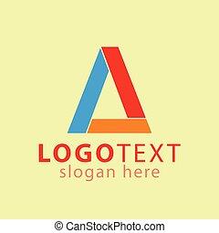 vettore, logotipo, iniziale, lettera