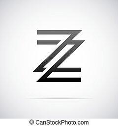 vettore, logotipo, z, lettera