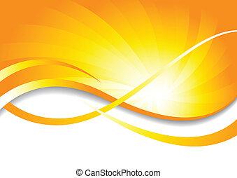 vettore, luminoso, fondo, in, giallo, colorare