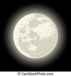 vettore, luna piena