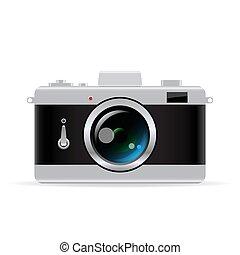 vettore, macchina fotografica foto