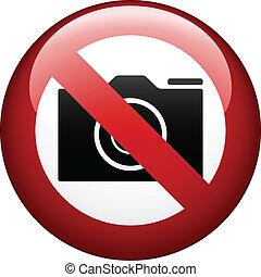 vettore, macchina fotografica, no, marchio