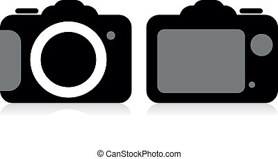 vettore, macchina fotografica, slr