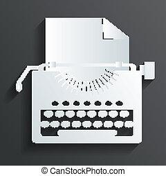 vettore, macchina scrivere