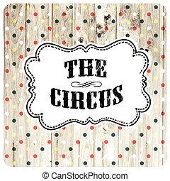 vettore, manifesto, astratto, circo, template.