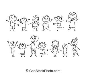 Stilizzato Disegnato Mano Gioco Bambini