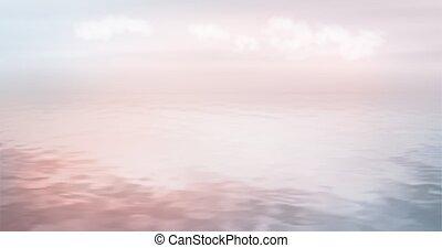 vettore, mare, fondo, oceano