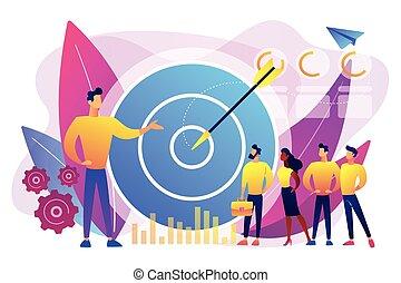 vettore, marketing, concetto, interno, illustration.