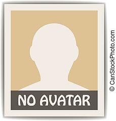 vettore, maschio, avatar