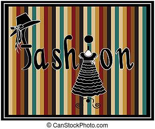 vettore, moda, bellezza, &