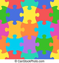 vettore, modello, puzzle, jigsaw, seamless