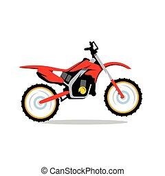 vettore, motocross, bicicletta, cartone animato,...