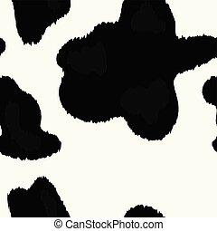 vettore, mucca, struttura, pelle