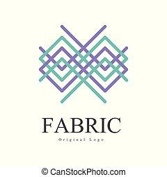 vettore, negozio, pubblicità, tessuto, manifesto, identità, ditta, originale, mestiere, illustrazione, creativo, aviatore, fondo, logotipo, bianco, geometrico, distintivo, disegno, bandiera