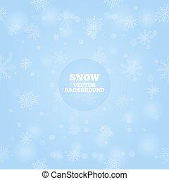 vettore, neve, fondo