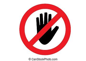 vettore, non, icon., tocco, illustrazione