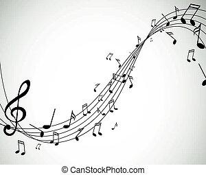vettore, note musica