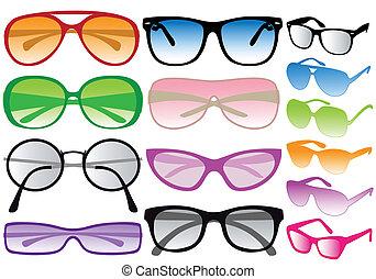 vettore, occhiali da sole