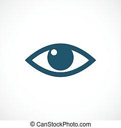 vettore, occhio, icona