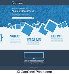 vettore, opuscolo, astratto, squadre, blu, website.