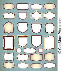 vettore, ornare, set, illustrazione, frames.