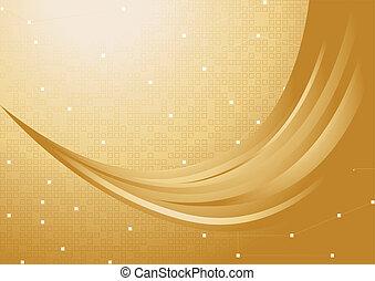 vettore, oro, fondo