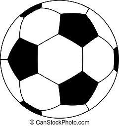 vettore, palla calcio