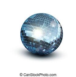 vettore, palla, discoteca