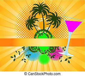 vettore, palme