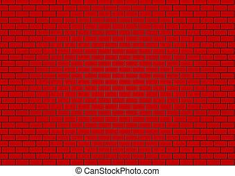 vettore, parete, mattone