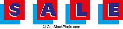 vettore, parola, vendita, illustrazione