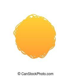 vettore, pendenza, astratto, illustrazione, fondo, cerchio arancia, scarabocchio