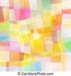 vettore, pixel, mosaico, variopinto