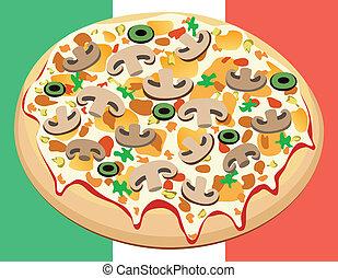 vettore, pizza