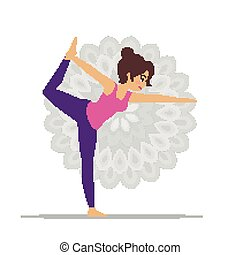 vettore, posa yoga