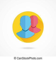 vettore, profili, icona