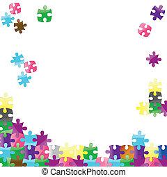 vettore, puzzle, jigsaw