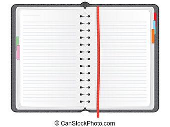 vettore, quaderno