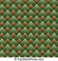 vettore, quadrato, modello, -, seamless, set, verde