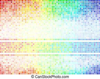vettore, quadrato, piastrella, astratto, multicolor, fondo., mosaico, pixel