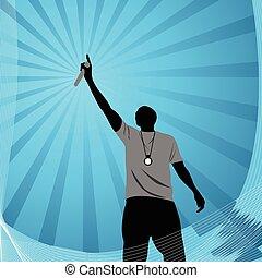 vettore, rapper, illustrazione