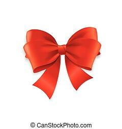 vettore, rosso, bow.