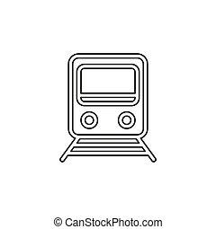 vettore, rotaia, -, stazione treno, ferrovia, icona