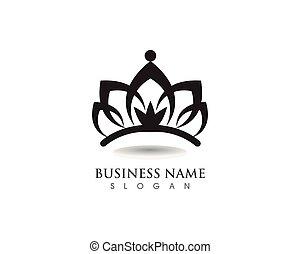 vettore, sagoma, logotipo, illustrazioni, corona