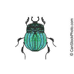 vettore, scarabeo scarab